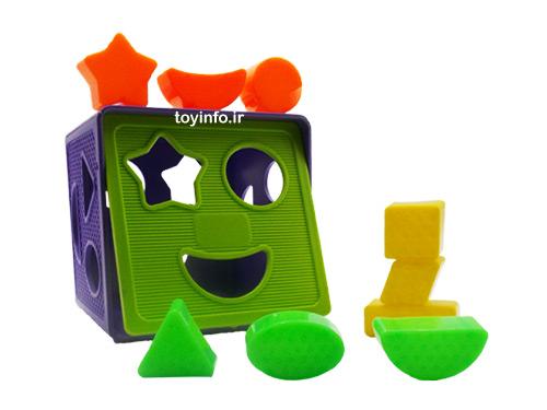 قطعات مختلف اسباب بازی مکعب فکری