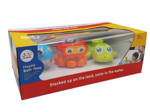 ست حمام 3 تکه عروسکی , اسباب بازی حمام کودک