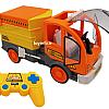 کامیون کنترلی خدمات شهری زرد و نارنجی