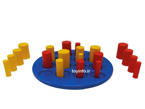 صفحه بازی و مهره های بازی فکری جذاب گابلت