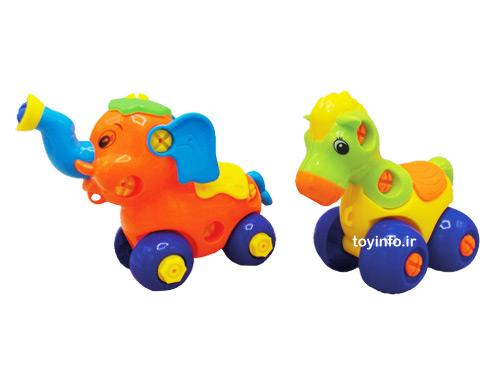 اسب و فیل بازی فکری لگو حیوانات