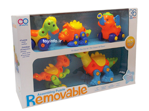 لگو حیوانات با رنگ های شاد
