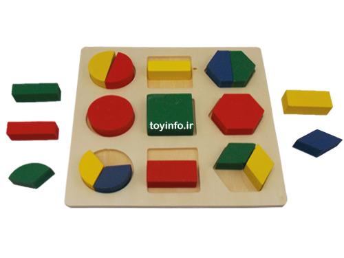 بازی فکری از جنس چوب برای کودکان خردسال