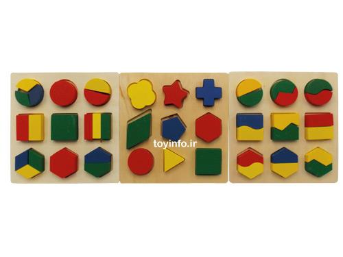 قطعات مختلف جورچین در کنار یکدیگر