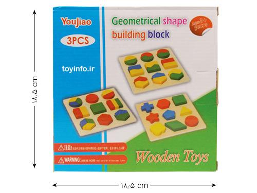 ابعاد جعبه بسته بندی جورچین چوبی