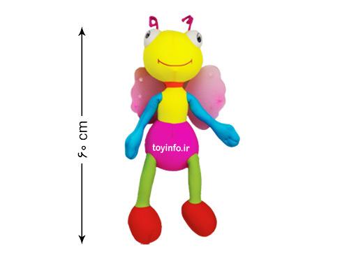 ابعاد عروسک زنبور بالدار
