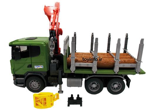 ماشین حمل چوب و قطعات مختلف آن