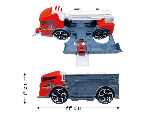 ابعاد کامیون آتش نشانی بزرگ