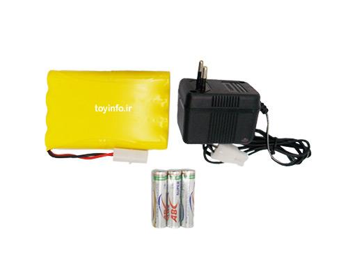 باتری ها و آداپتور اسباب بازی