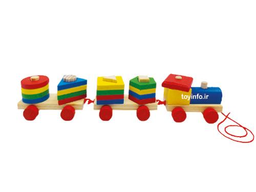 قطار جورچین چوبی