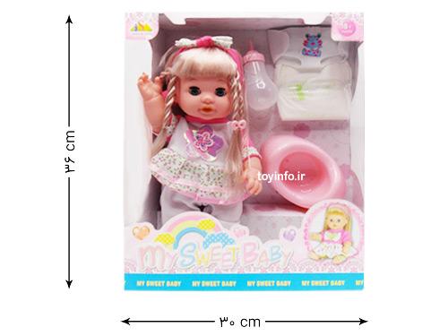 ابعاد بسته بندی عروسک فرشته کوچک