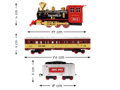 ابعاد قطعات قطار دایناسورها