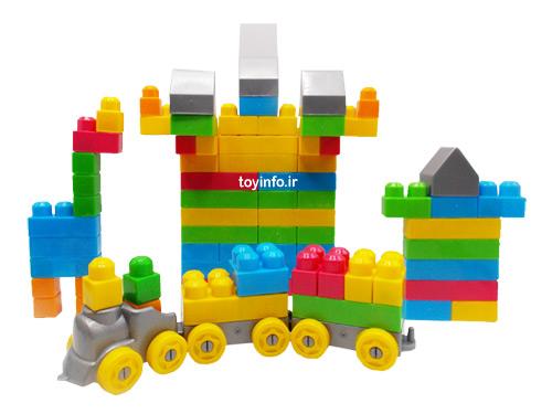 قطار و سازه های لگویی