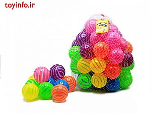 توپ 50 عددی رنگارنگ