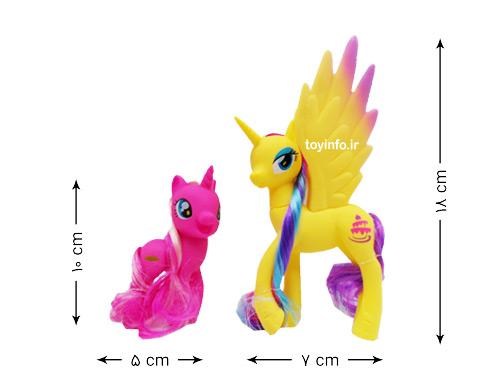ابعاد عروسک های اسب تک شاخ