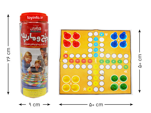 ابعاد صفحه بازی منچ و مارپله