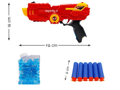 ابعاد تفنگ تیر ژله ای