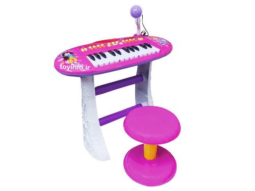 پیانو صورتی پایه دار