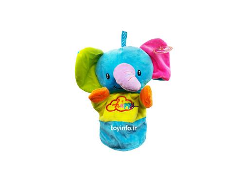 عروسک دستی با مدل فیل کارتونی