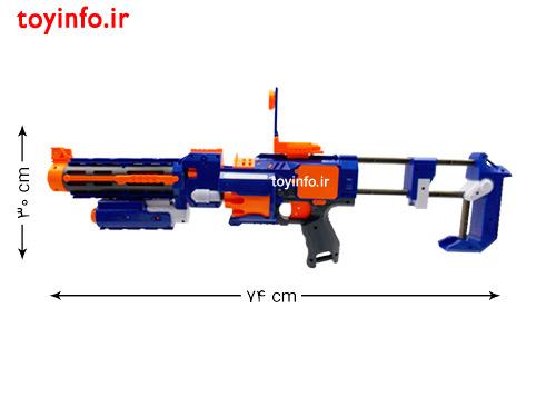 ابعاد تفنگ بدون اتصال قنداق