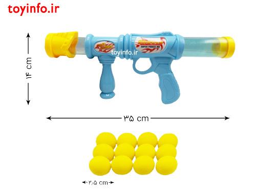 ابعاد تفنگ و توپ ها
