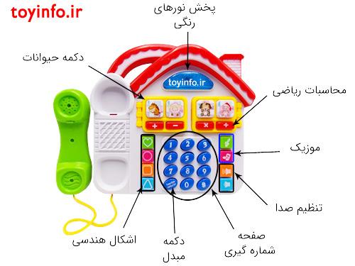 جزییات تلفن خانه ای موزیکال