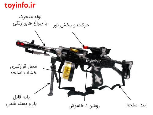 جزییات اسلحه پایه دار فانتزی