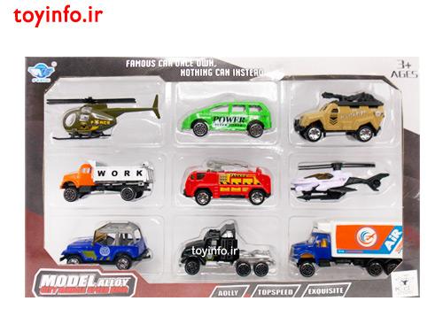 ست ماشین فلزی کوچک