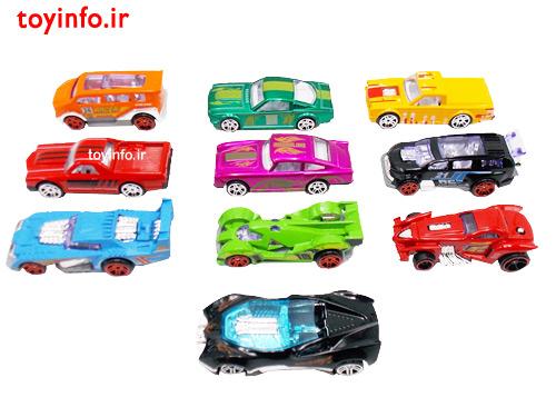 ماشین های رنگارنگ فلزی