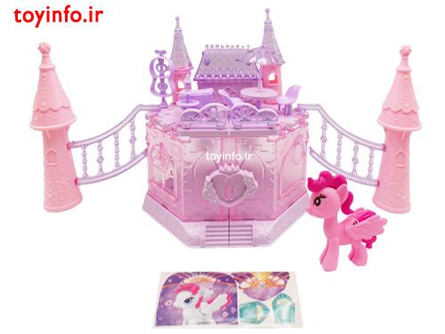 قصر پونی به همراه برچسب