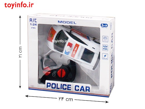 ابعاد جعبه ماشین پلیس کنترلی