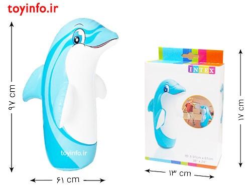 ابعاد جعبه و کیسه بوکس بادی دلفین