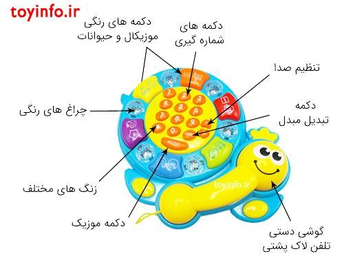 جزییات تلفن لاک پشتی