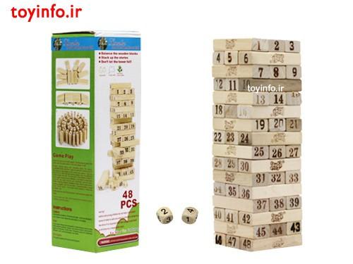 بازی فکری برج جنگا چوبی