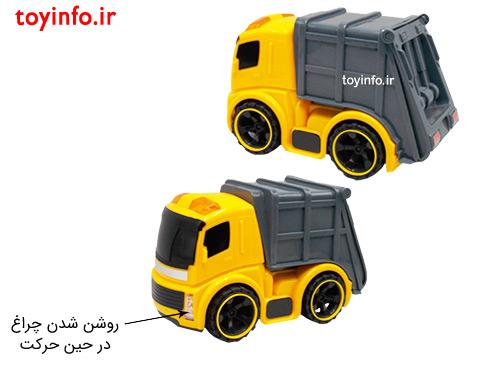 جزییات اسباب بازی ماشین حمل زباله