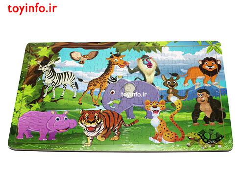 پازل حیوانات جنگل ، پازل با قطعات زیاد