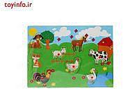 صفحه بازی جورچین حیوانات مزرعه