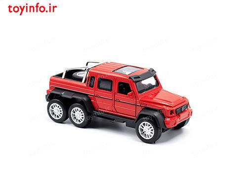 ماشین فلزی جیپ آفرود قرمز