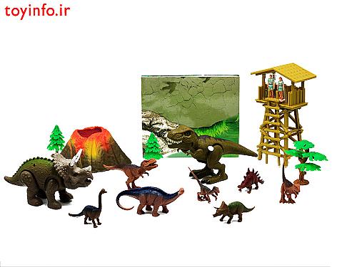 اسباب بازی دایناسورهای پارک ژوراسیک