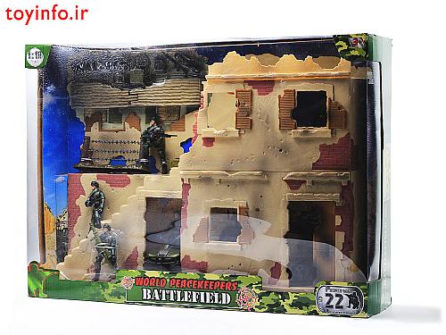 جعبه سنگر نظامی بزرگ از زاویه جانبی