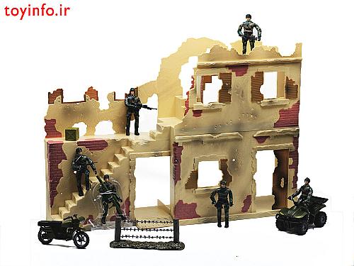 سنگر نظامی به همراه سرباز