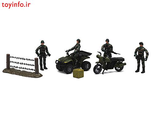سربازهای سنگر نظامی بزرگ