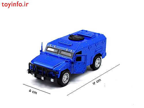 ابعاد ماشین فلزی نظامی آبی