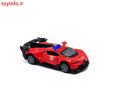 ماشین قرمز بوگاتی , ماشین آتش نشانی فلزی