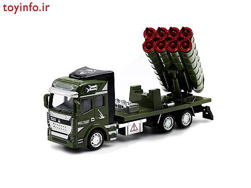 تریلی موشک انداز با ابعاد