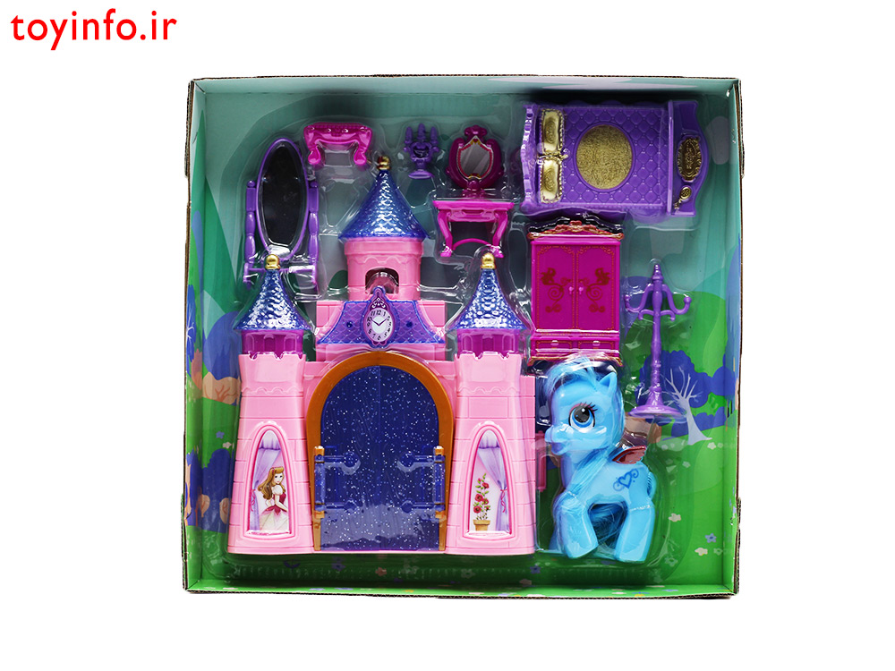 قصر پونی آبی درون بسته بندی