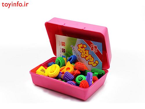 قطعات لگو درون جعبه کالا