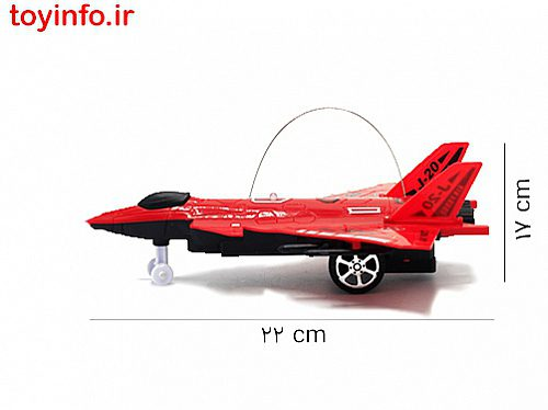 ابعاد هواپیمای جنگی قرمز