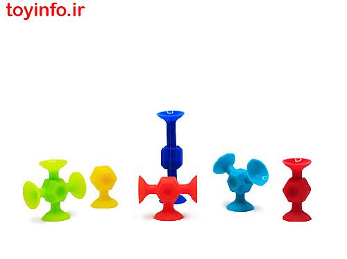 بازی توپ های رنگی چسبان
