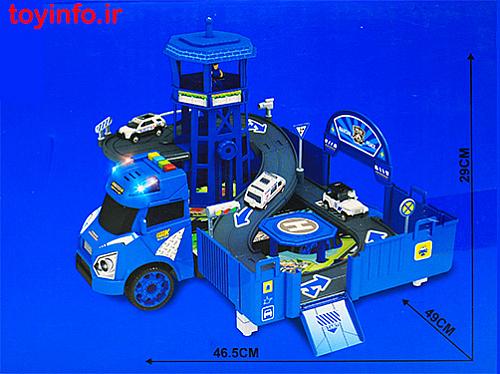 ابعاد تریلی حمل ماشین پلیس